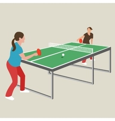 table tennis ping pong woman female girl athlete vector image vector image