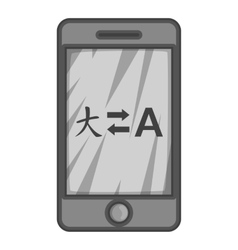 Translation from japanese to english on phone icon vector image vector image