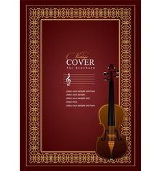 al 0507 cover violin vector image vector image