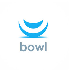 bowl logo vector image