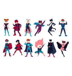 bundle of kids superheroes bundle of boys and vector image