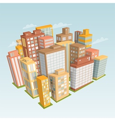 city landscape isometric view vector image vector image