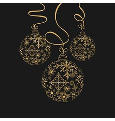 cute christmas composition with balls - vector image vector image
