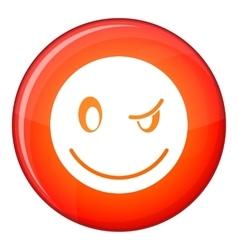 Eyewink emoticon flat style vector image vector image