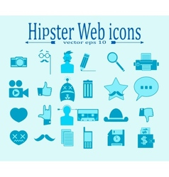 Hipster media icons vector image vector image