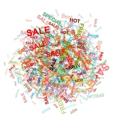 Shopping cloud for your design vector image