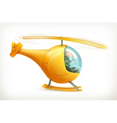 Funny helicopter icon vector image vector image