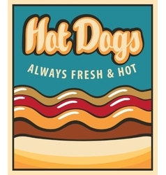 hot dog in retro style vector image