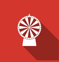 lucky wheel flat icon with long shadow vector image vector image