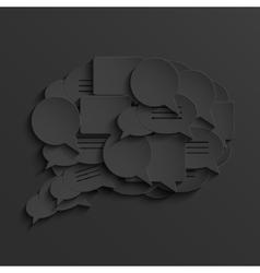 modern black bubble speech vector image