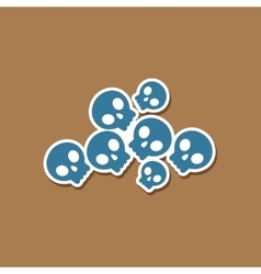 paper sticker on stylish background halloween vector image vector image