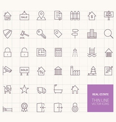 Real Estate Outline Icons for web and mobile apps vector image vector image