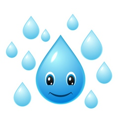 smiling water droplet vector image
