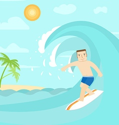 The man surfing on the ocean For web design and vector image