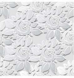 flower seamless pattern background with 3d vector image vector image