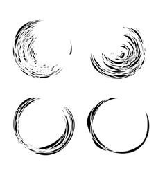 Grunge circles set vector image vector image