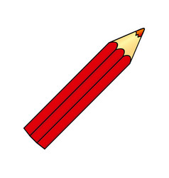 red pencil color icon vector image vector image