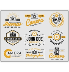 Set of photography and camera service logo vector image