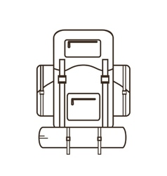 Tourism backpack icon vector image