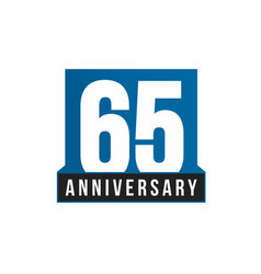 65th anniversary icon birthday logo vector