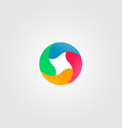 abstract circle full color logo icon vector image