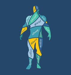 Abstract multicolor of bodybuilder vector