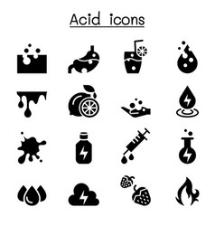 Acid icon set vector