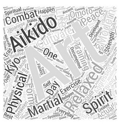 aikido spirit Word Cloud Concept vector image vector image
