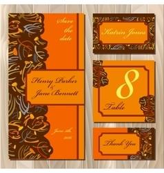 Autumn tansy wedding invitation card Printable vector image