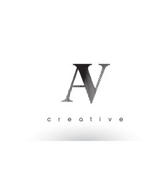 av logo design with multiple lines and black and vector image