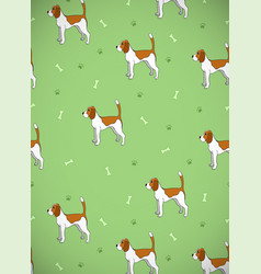 awesome greeting card with cute cartoon dog breed vector image