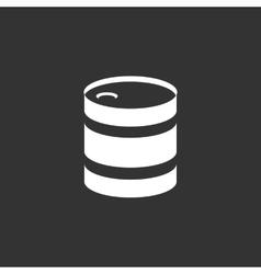 Barrel icon isolated on a black background vector
