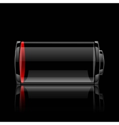 battery glossy web icon vector image