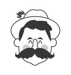 bavarian man icon vector image