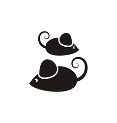 Black mouses vector