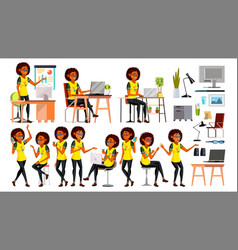Business african black woman character in vector