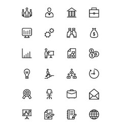 Business and Finance Line Icons 1 vector