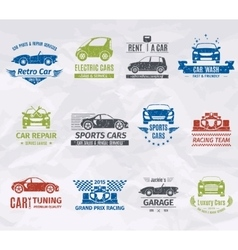 Car Logo Stamps vector image