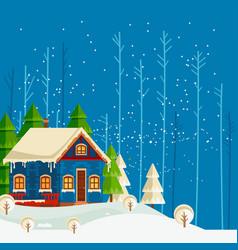 christmas and new year card christmas tree vector image