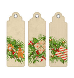 christmas bookmark vector image
