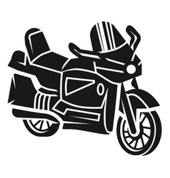 City moto bike icon simple style vector