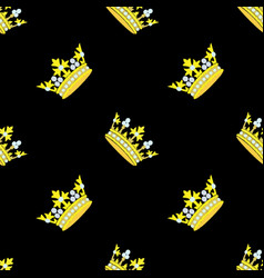crown embroidery seamless pattern vector 17514619
