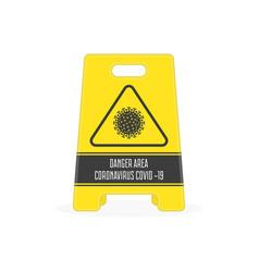 Danger area coronavirus vector