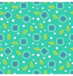 Ditsy pattern with small white sakura flowers vector image