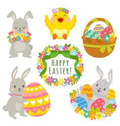 Easter animals clip art set vector