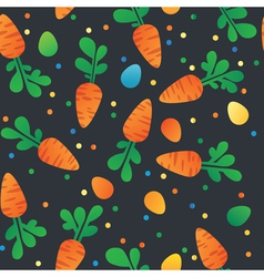 Eastern carrot and eggs seamless pattern vector