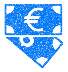 Euro and dollar banknotes grunge icon vector