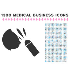 Female breast sperm ejaculation icon with 1300 vector