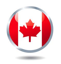 flag button canada vector image