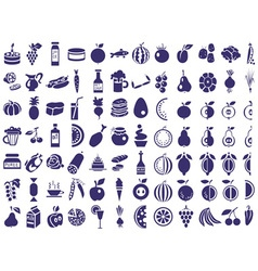 food icons on white vector image